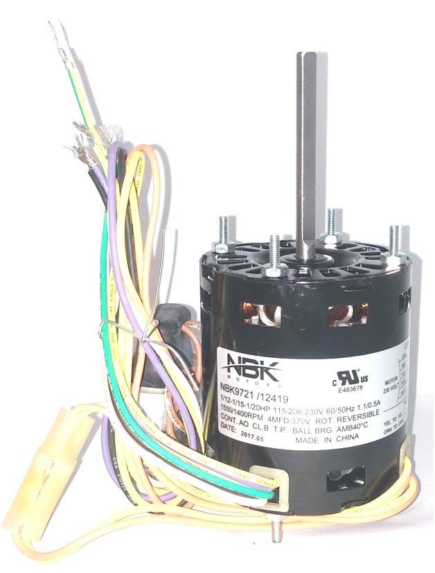 Fasco 9721 Refrigeration Fan Motor 115/230V 1.0/.5 Amps Rpm 1550/1400