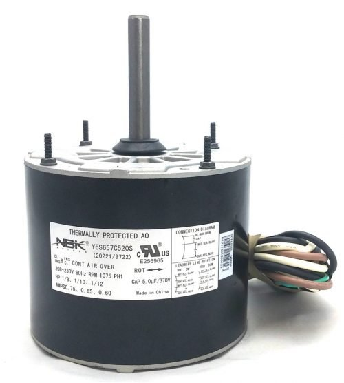 New Century 9722 Hvac Condensor Fan Motor Multi-Purpose 208-230V 1075 Rpm