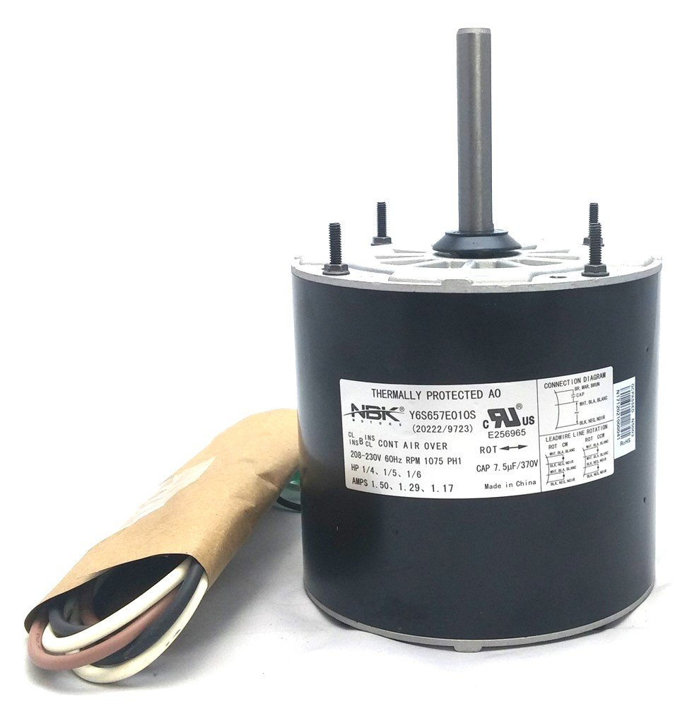 New Century 9723 Hvac Condensor Fan Motor Multi-Purpose 208-230V 1075 Rpm