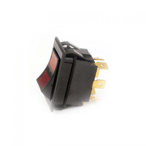 B K Industries Switch Rkr Dpdt 15A 250 V Lamp