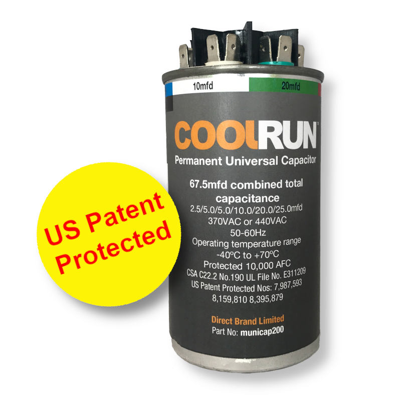 coolrun universal capacitor